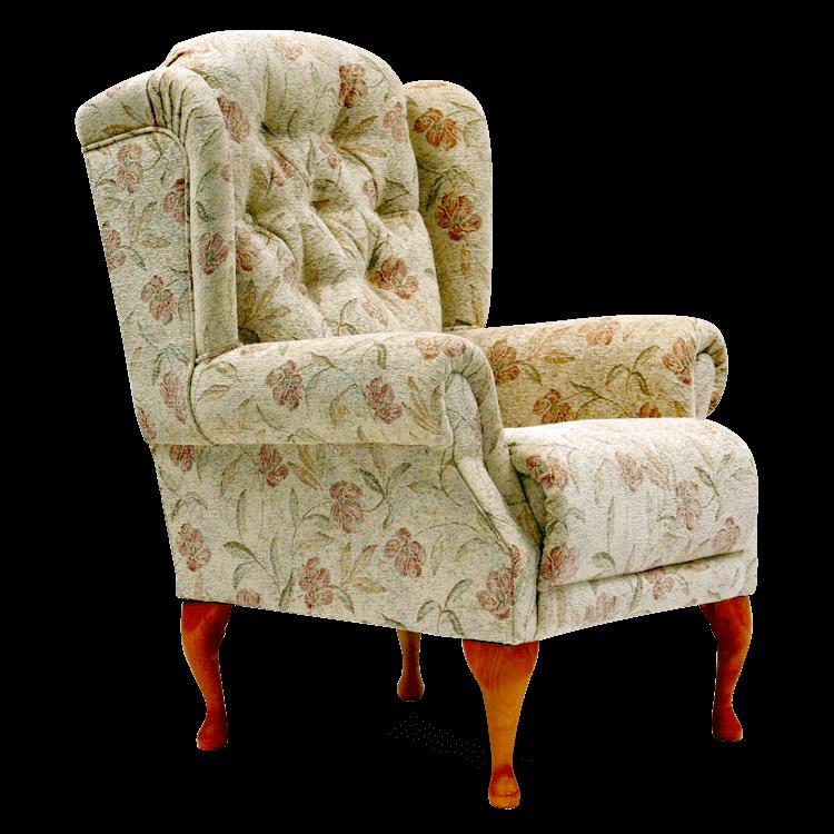 Abbey Queen Anne Fireside Chair